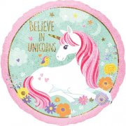 Magical unicorn holographic folija balons 45 cm