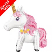 standing magical unicorn folija balons 63 cm