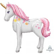 Magical unicorn airwalker folija balons 116 cm