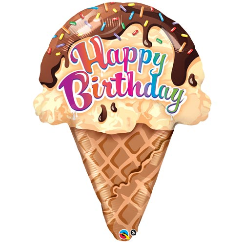 Birthday Ice Cream folija balons 68 cm