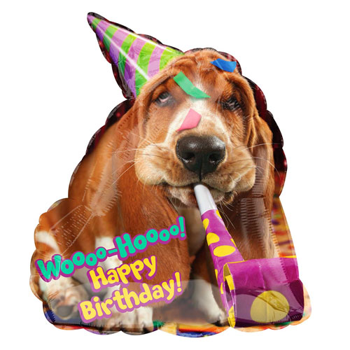 Birthday Dog folija balons 63 cm