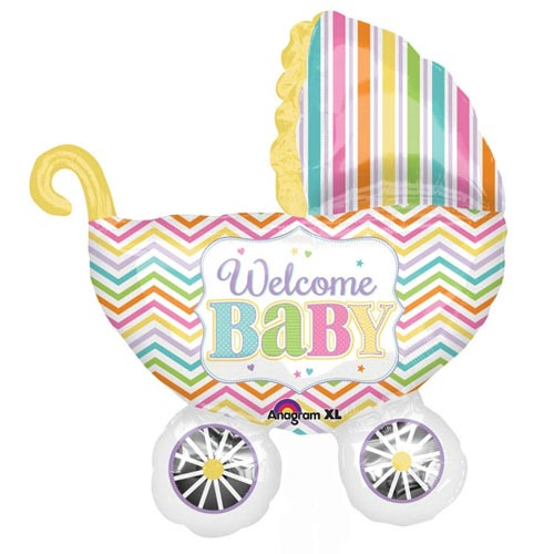 Baby Brights Carriage folija balons 78 cm