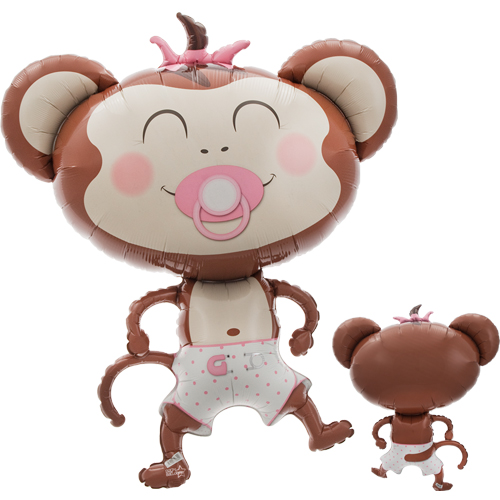 Baby Girl Monkey folija balons 104 cm